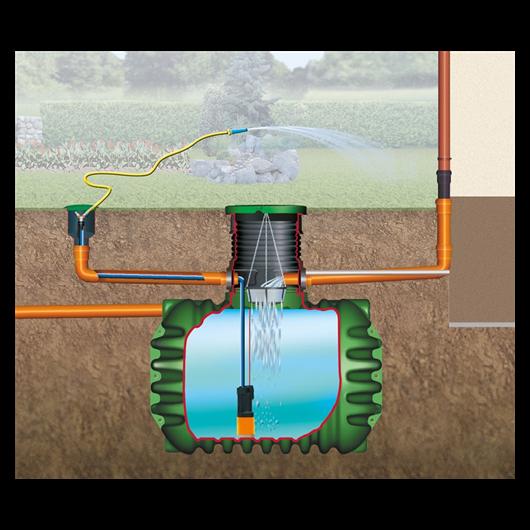 Cristall esővízgyűjtő tartály, 1600 l, Garten-Comfort
