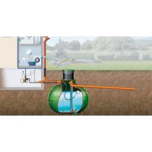 Columbus esővízgyűjtő tartály, 4500 l, Haus-Classic