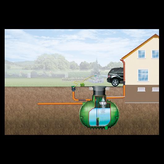Columbus esővízgyűjtő tartály, 9000 l, Garten-Comfort