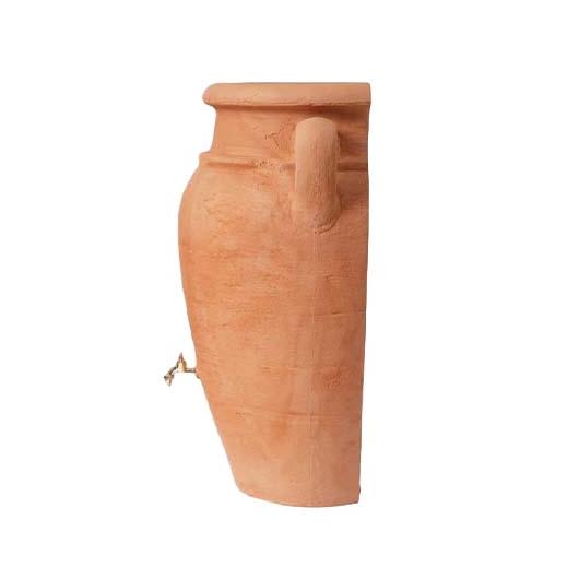 Antik Amfora fali esővízgyűjtő tartály, 260 l, terrakotta