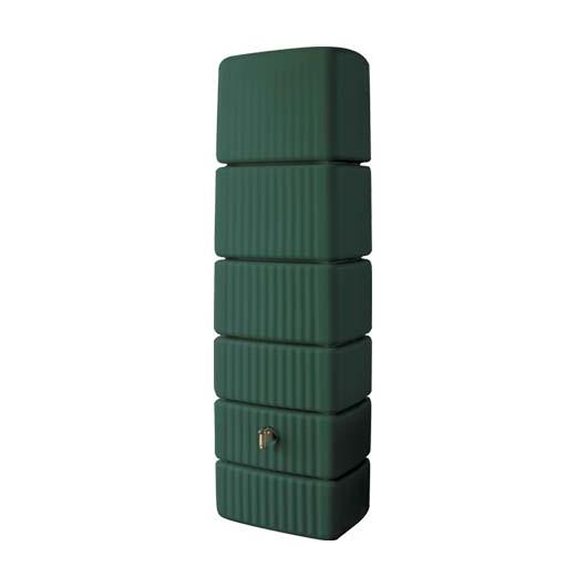 Slim fali esővízgyűjtő tartály, 650 l, sötétzöld