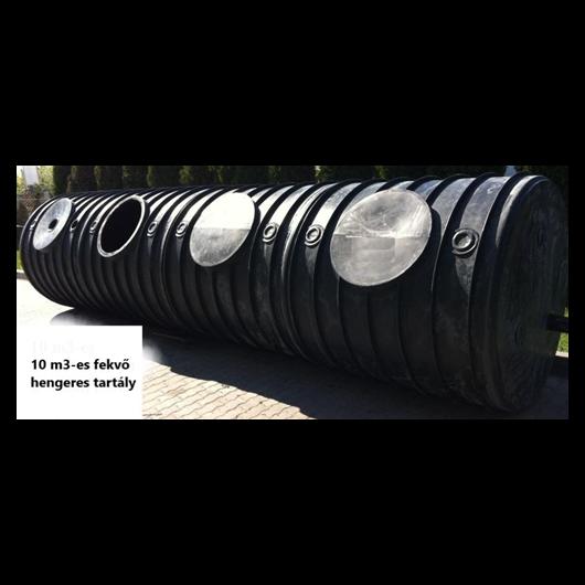 Szennyvízgyűjtő tartály, fekvőhengeres, 10 m3-es