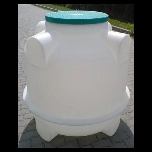 UNIVERZÁLIS műanyag tartály 1 m3-es,  lépésálló tetővel, fehér