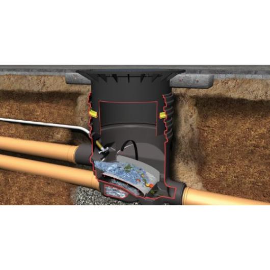 Optimax-Filter földbe építendő esővízszűrő, gépkocsival járható