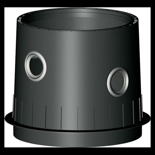Platin /Carat XL /XXL tankidom Maxi fekete, DN150-es bekötéssel