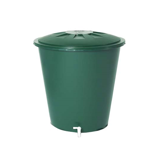 Esővízgyűjtő tartály kerek, 310 l, zöld