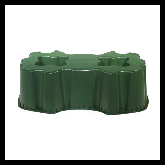 Talp, szögletes 520 l-es esővízgyűjtő tartályhoz, zöld