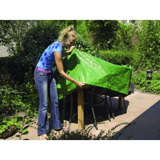 Kerti bútortakaró, asztaltakaró köralakú 90x205 cm, zöld*
