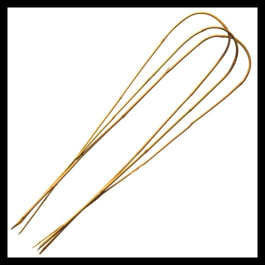 Növénytámasz, bambuszkaró íves  60cm 3db-os*