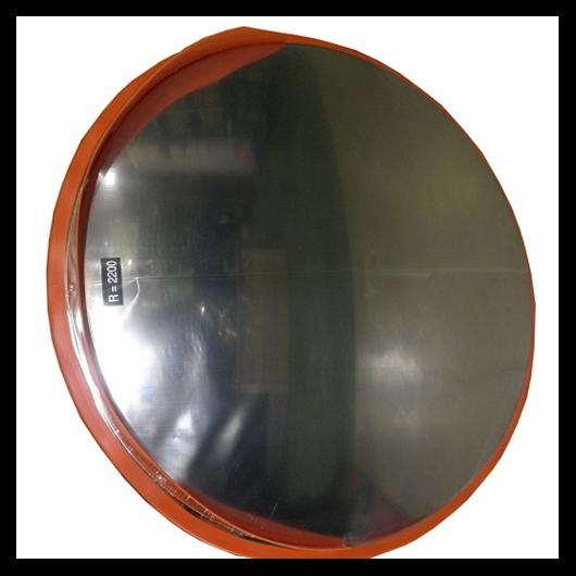 Tükör kültéri 800 mm, acél műanyag kerettel