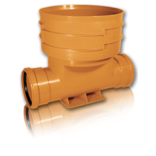 KGK PVC T ág KGET 160*200*160*90° 2 tokos Egyenes átfolyású
