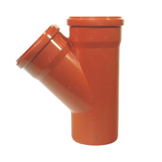 KG PVC Y idom KGEA-125/125/45°