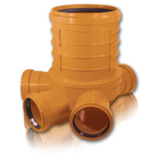 KGK PVC Akna fenékelem KGAL-315/400 RML 8023 Három elágazós