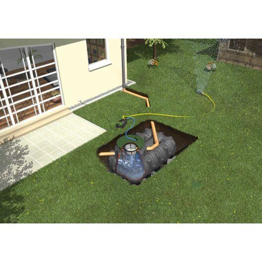 Platin esővízgyűjtő tartály, 5000 l, Garten-Jet kerti rendszerrel