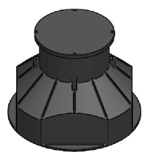 Kábelakna  DN 1000, 0,85 m fedlappal - sunikft.hu