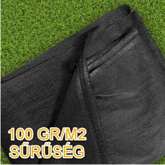 Geotextília 100 gr/m2, 2x5 méter - 10 m2/csomag (fekete)