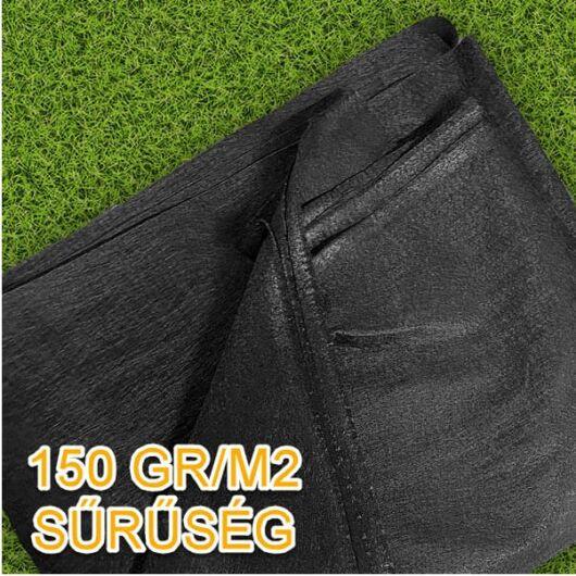 Geotextília 150 gr/m2, 2x4 méter - 8 m2/csomag (fekete)