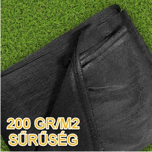 Geotextília 200 gr/m2, 2x5 méter - 10 m2/csomag (fekete)