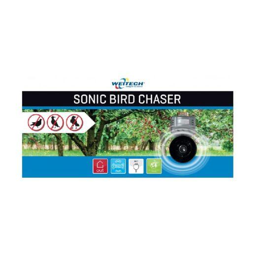 Multifunkciós madárriasztó készülék, LED fénnyel és hanggal, 400 m2