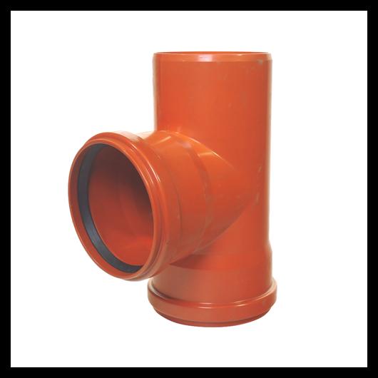KG PVC T idom KGEA- 125/125/90°