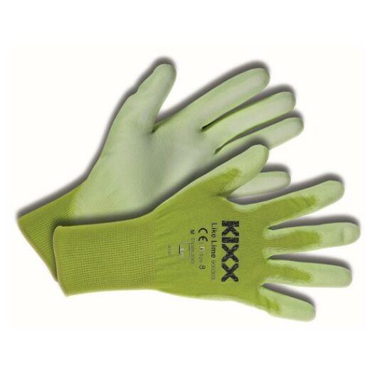 Kerti kesztyű zöld  7-es nylon-polyuretan