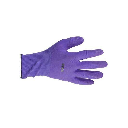 Kerti kesztyű, lila 10-es nylon/latex