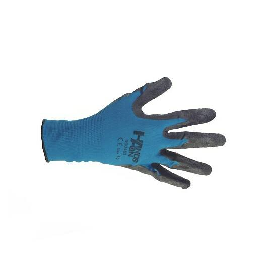 Kerti kesztyű nylon/latex 7-es kék-fekete*