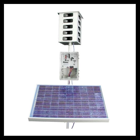 Madárriasztó készülék szett, hanghatással-solar - Mega Blaster Pro