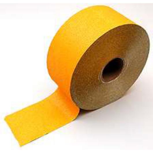 Útjel szalag ideiglenes 12 cm sárga (100 fm/tek.)