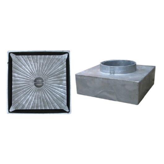 Csatornatönk aluminium, 105x105 40 mm-es csonkkal