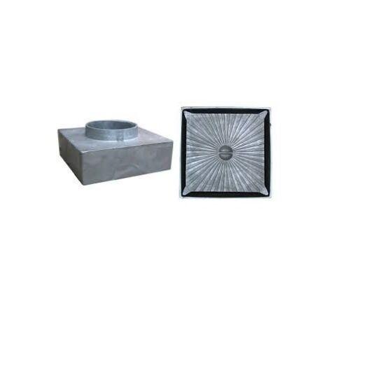 Csatornatönk aluminium,160x160 63 mm-es csonkkal