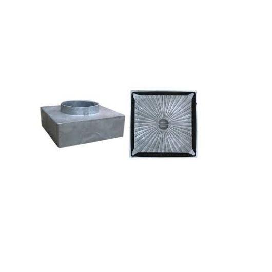 Csatornatönk aluminium, 210x210 110 mm-es csonkkal