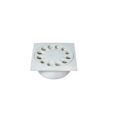 Műanyag összefolyó, fehér színű 150*150/110