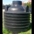 Kép 1/2 - Szennyvízgyűjtő tartály lépésálló tevővel, 3 m3-es, fekete