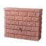 Kép 1/4 - Rocky fali esővízgyűjtő tartály, 400 l, vöröskő